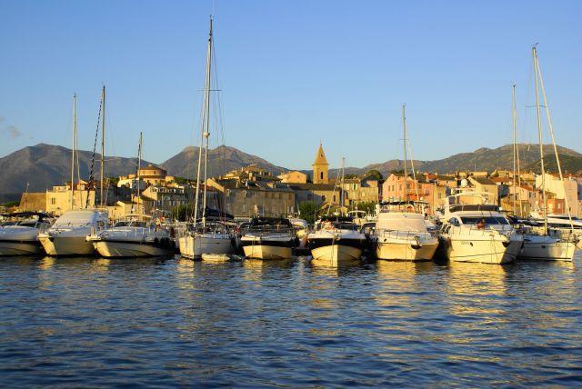 Zdjęcia: Saint Florent, Korsyka, Port o zachodzie, FRANCJA