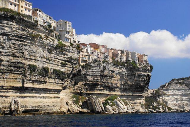 Zdjęcia: Bonifacio, Korsyka, Nad urwiskiem, FRANCJA