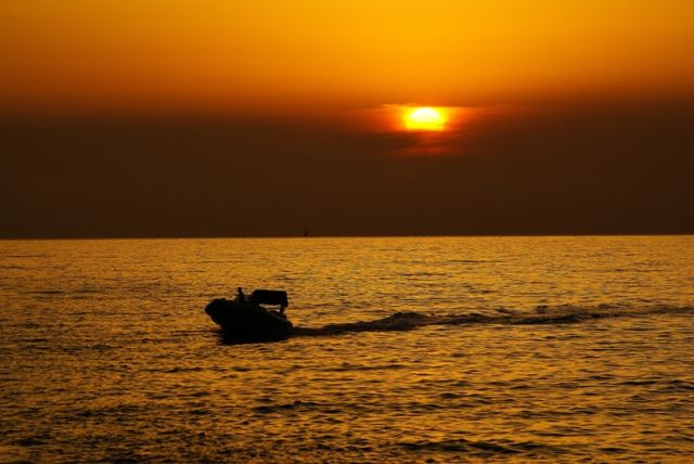Zdj�cia: Zatoka Porto, wybrze�e zachodnie, Korsyka, Wieczorny powr�t, FRANCJA