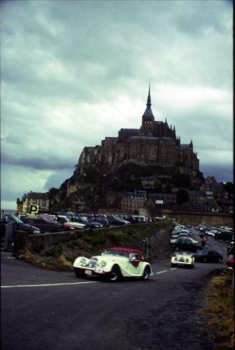 Zdjęcia: Le Mt St Michel, -Normandia, Le mt St Michel z samochodami, FRANCJA