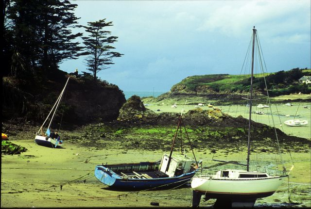Zdjęcia: płd wybrzeże, Bretania, po odpływie, FRANCJA