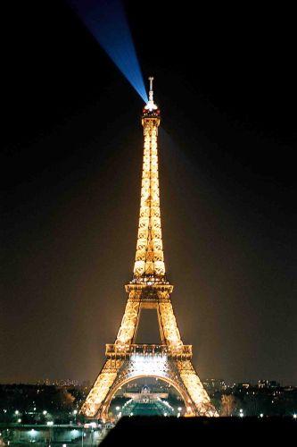 Zdjęcia: paryż, światełko z ziemi, FRANCJA
