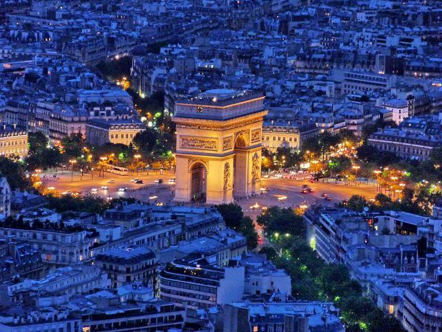 Zdjęcia: Paris, Ile-de-france, Widok z wieży (21.30), FRANCJA