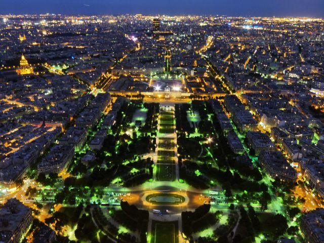 Zdjęcia: Paris, Ile-de-france, z wieży o 22, FRANCJA
