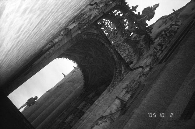 Zdj�cia: Francja, Albi - p�nocna �ciana katedry, FRANCJA