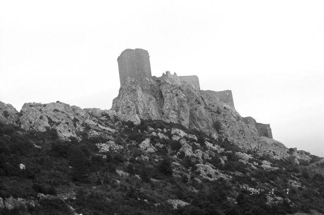 Zdj�cia: Francja, Queribus - zamek Katar�w, FRANCJA