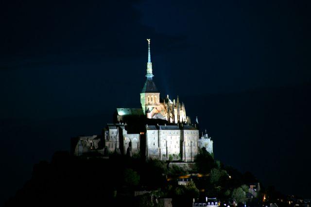 Zdjęcia: Normandia, Normandia, Mont Saint Michel noca, FRANCJA