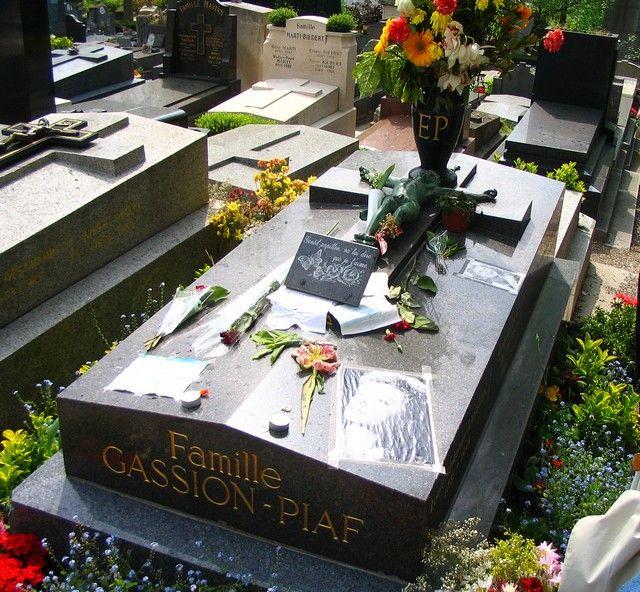 Zdjęcia: Paryż -  Cmentarz Pere - Lachaise, grób Edith Piaf, FRANCJA