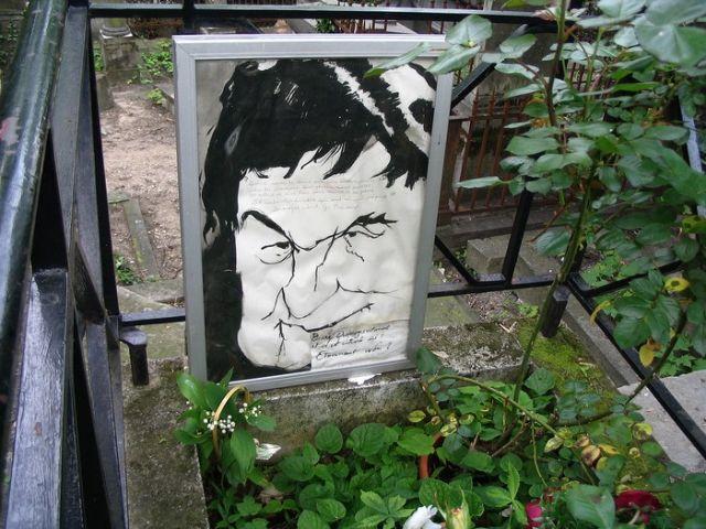 Zdjęcia: Paryż -  Cmentarz Pere - Lachaise, Grób Georgesa  Brassensa - poety, barda i kompozytora, FRANCJA
