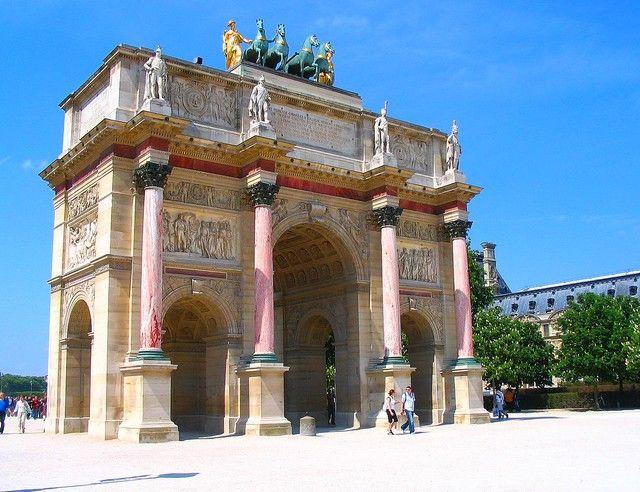 Zdjęcia: Paryż, Łuk Carrousel łaczacy Luwr z ogrodami Tuileries, FRANCJA