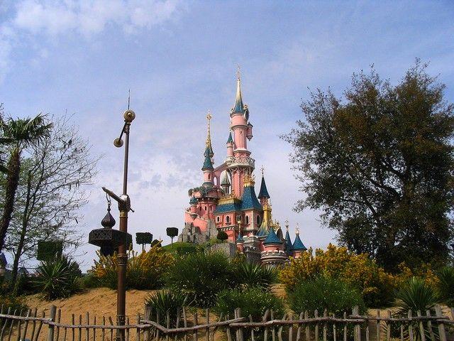 Zdjęcia: Paryż, Disneyland - zamek z bajki, FRANCJA