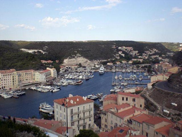 Zdjęcia: Bonifacio, Korsyka, Widok z Cytadeli, FRANCJA