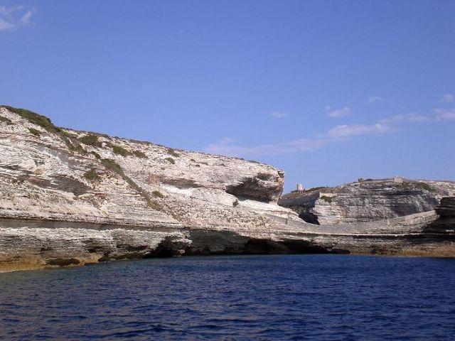 Zdjęcia: Bonifacio, Korsyka, Widok z morza, FRANCJA