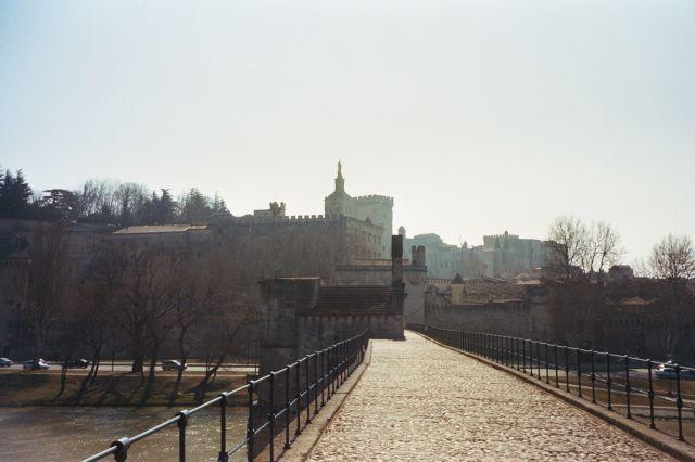 Zdjęcia: Avinion, Avinion- most i pałac, FRANCJA
