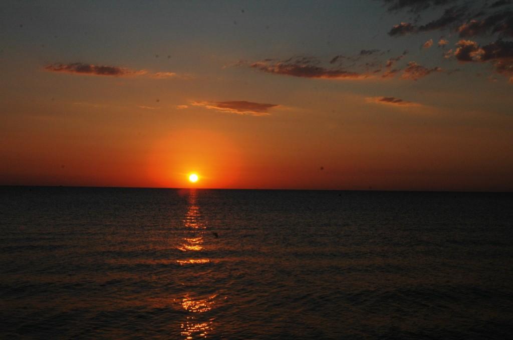 Zdjęcia: Canet - plage, Langwedocja, Wschód słońca, FRANCJA
