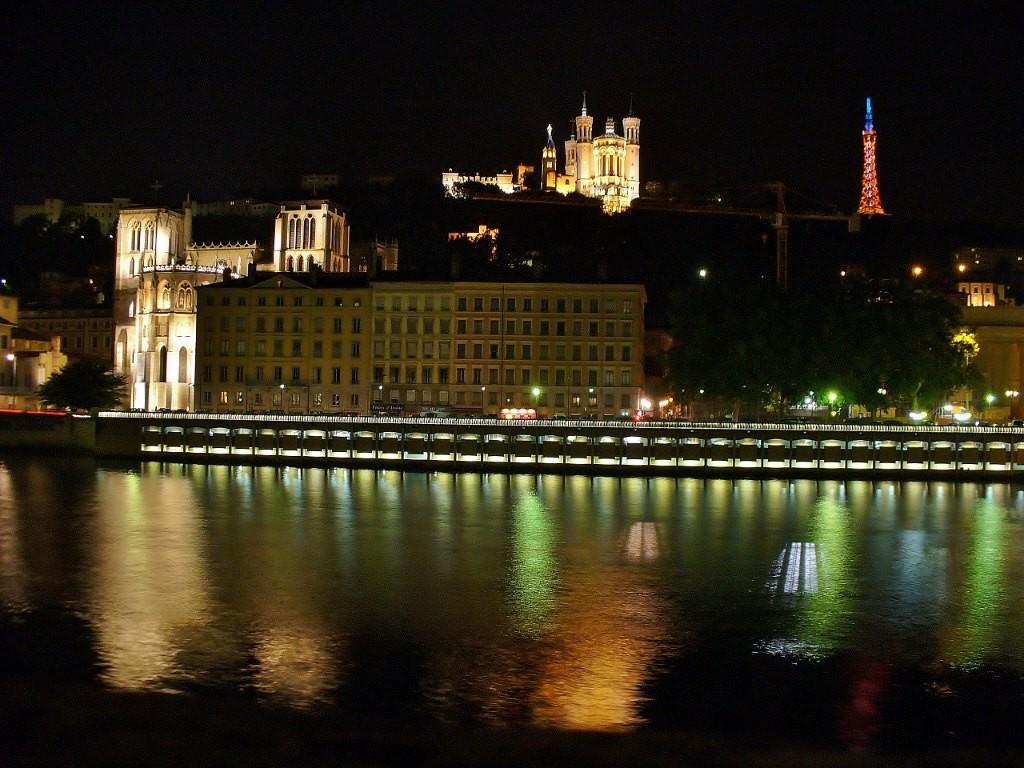 Zdjęcia: Lyon, Rhone, Lyon, widok na Fourviere i katedrę, FRANCJA