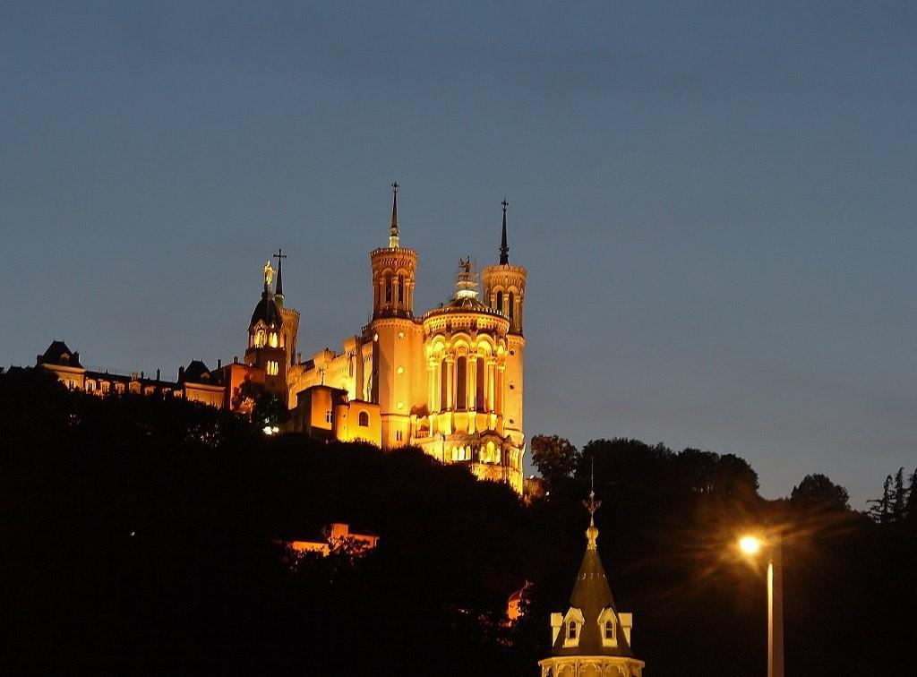 Zdjęcia: Lyon, Rhone, Lyon, widok na Fourviere , FRANCJA
