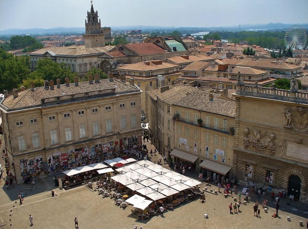 Zdjęcia: Avignon, Prowansja, Avignon, widok z zamku, FRANCJA