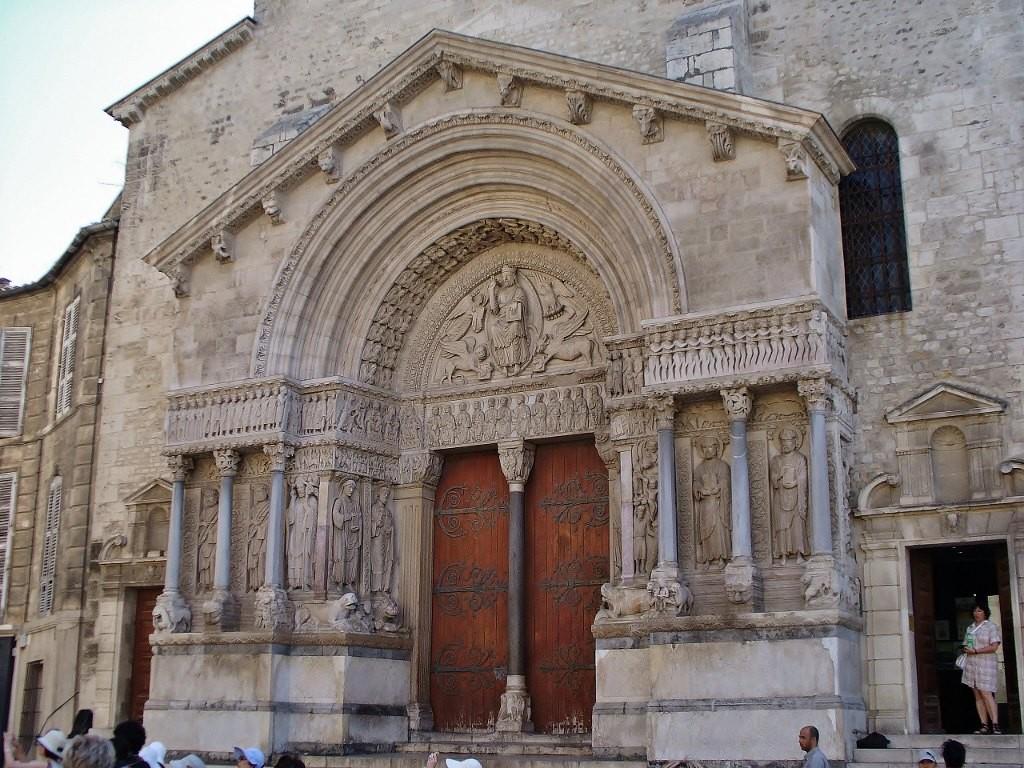 Zdjęcia: Arles, Prowansja, Arles, st. Trophime- Portal kościoła, FRANCJA