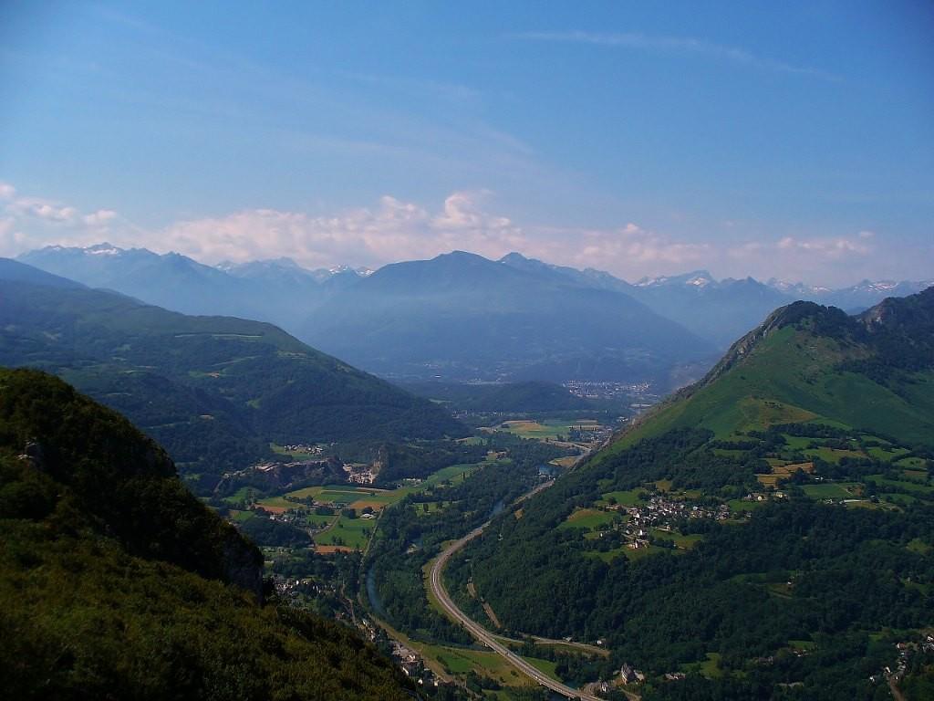 Zdjęcia: Widok z Pic de Ger, Haute-Pyrenees, Pireneje, FRANCJA