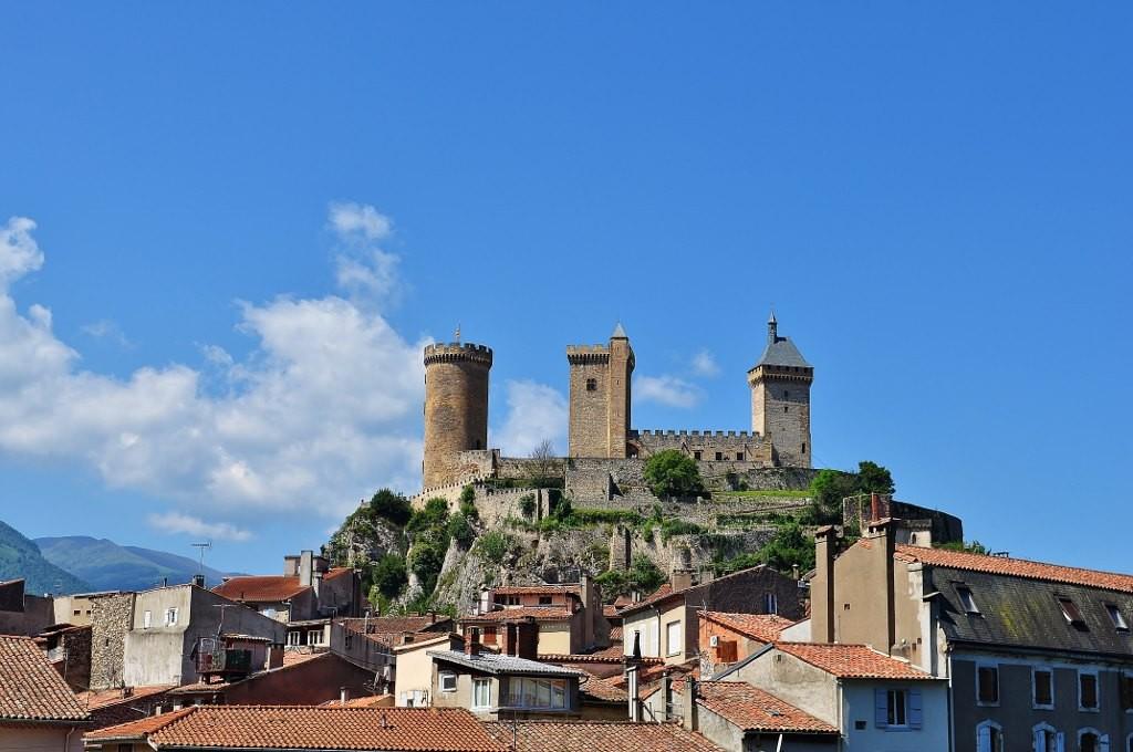 Zdjęcia: Foix, Midi-Pyrénées, Foix, widok na zamek, FRANCJA