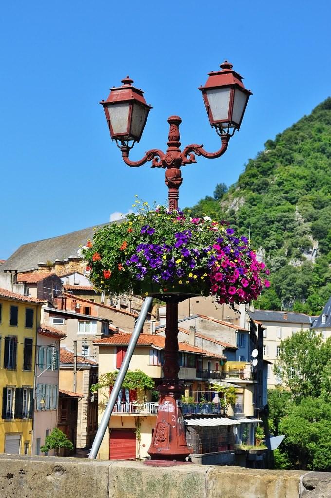 Zdjęcia: Foix, Midi-Pyrénées, Foix, dekoracja mostu, FRANCJA