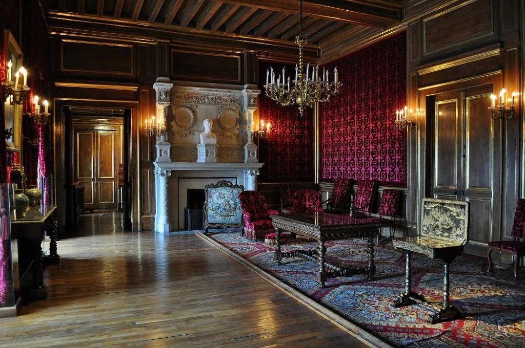 Zdjęcia: Pau, Akwitania, Pau, zamek, gabinet Napoleona III, FRANCJA