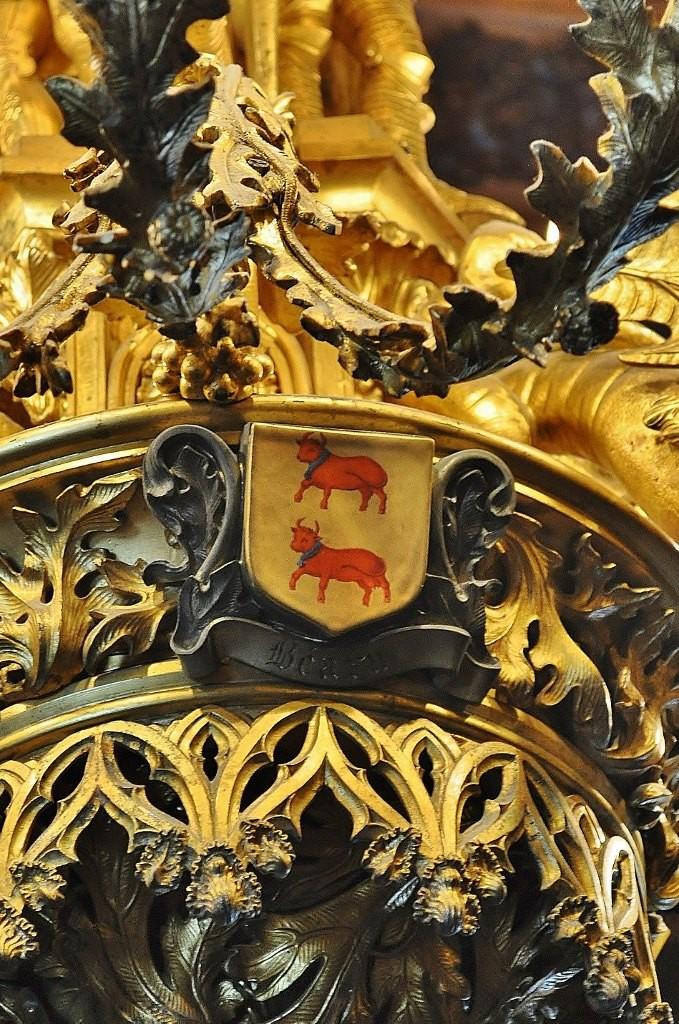Zdjęcia: Pau, Akwitania, Pau, zamek, herb Béarn, FRANCJA