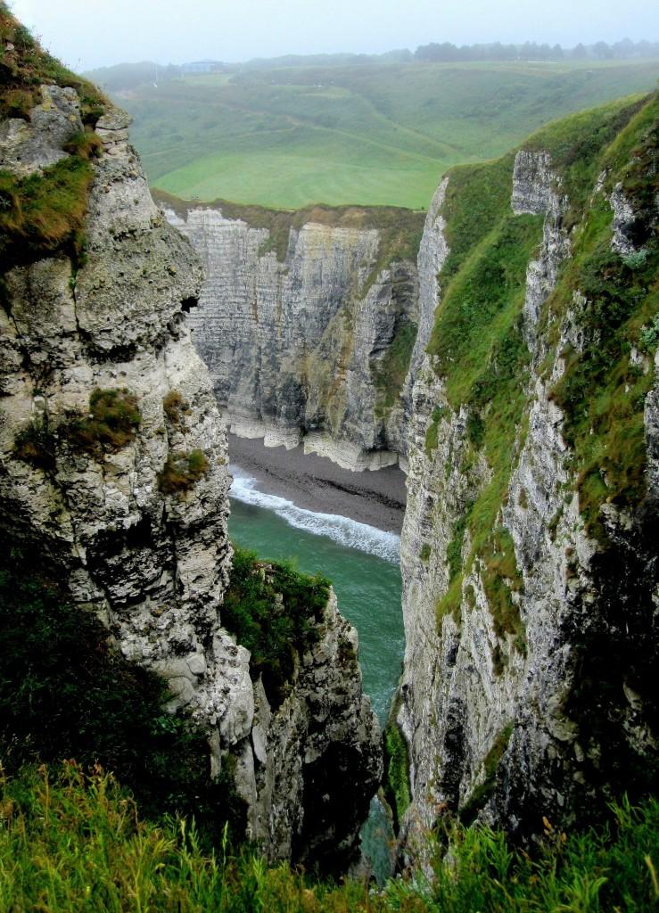 Zdjęcia: Etretat, Normandia, z góry..., FRANCJA
