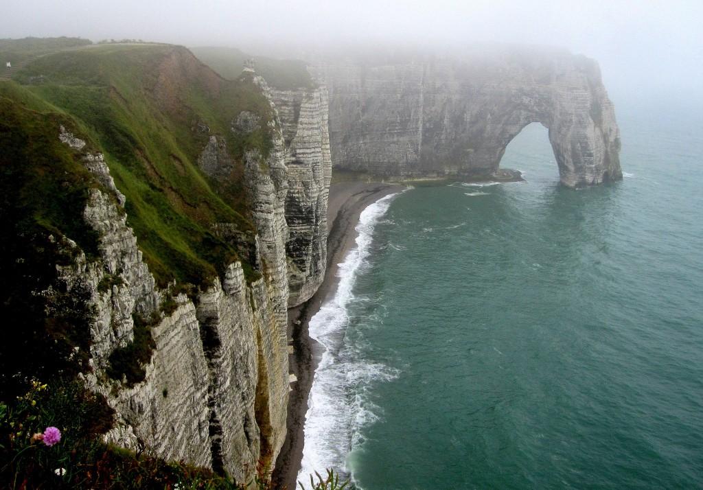 Zdjęcia: Etretat, Normandia, we mgle..., FRANCJA