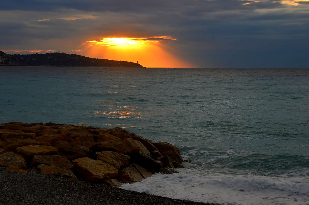 Zdjęcia: Nicea, Lazurowe Wybrzeże, Wschód słońca w Nicei, FRANCJA