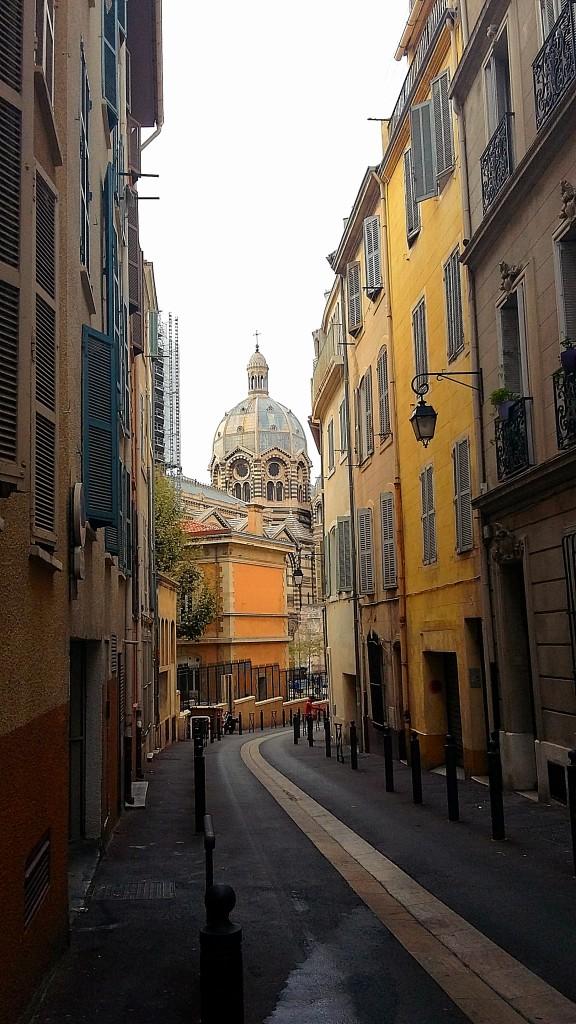 Zdjęcia: Marsylia, Prowansja, Widok na katedrę La Major , FRANCJA