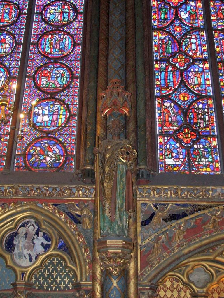 Zdjęcia: Paryż, Sainte-Chapelle_ witraże, rzeźba, malarstwo ścienne, FRANCJA