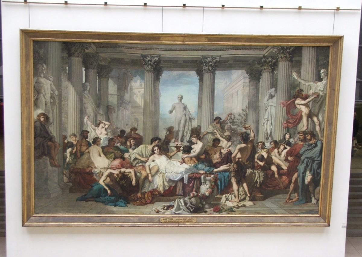 """Zdjęcia: Paryż, Muzeum d'Orsay, """"Rzymianie okresu upadku"""", FRANCJA"""