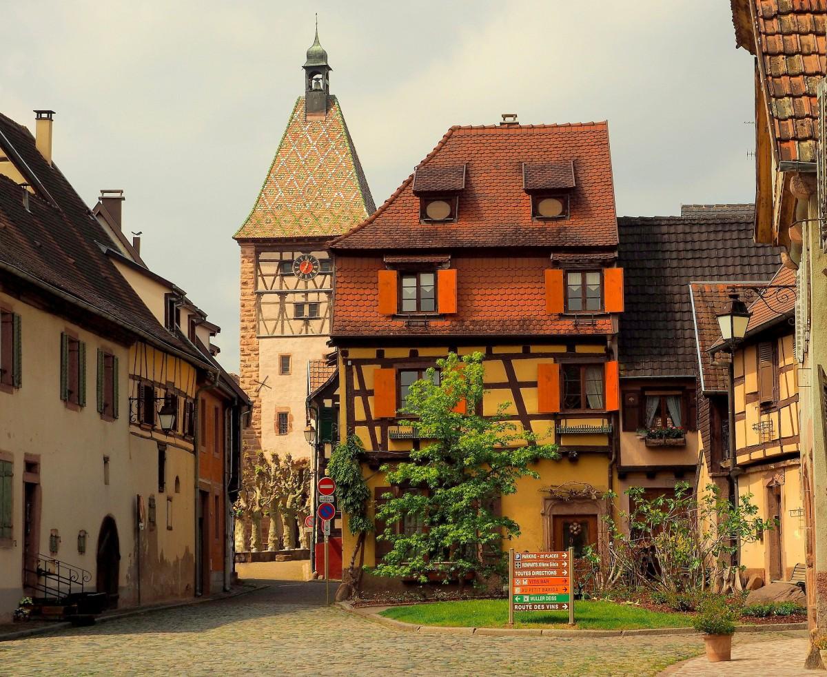 Zdjęcia: Bergheim, Alzacja, w Bergheim..., FRANCJA