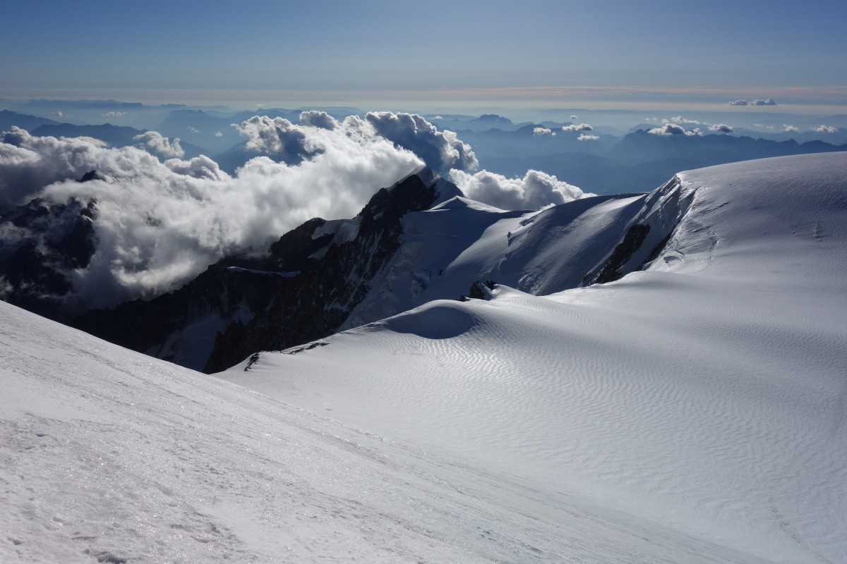 Zdjęcia: schron Vallot, Masyw Mont Blanc, Widoki na 4362 m n.p.m., FRANCJA