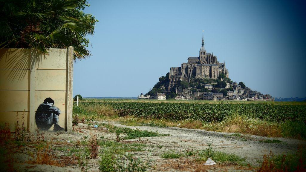 Zdjęcia: Mont St. Michel, Normandia, panorama klasztoru, FRANCJA