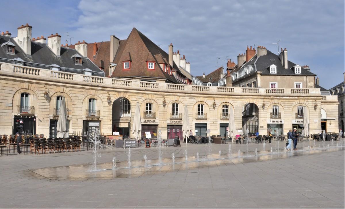 Zdjęcia: Dijon, Burgundia, Dijon, plac przed pałacem, FRANCJA