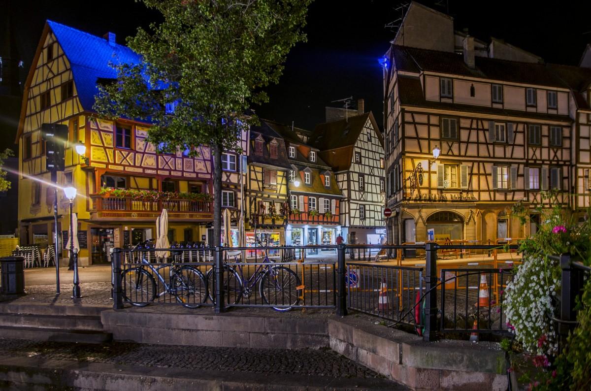 Zdjęcia: Colmar , Grand Est / Alzacja , Colmar nocny, FRANCJA