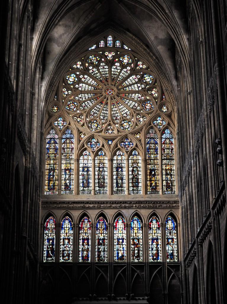 Zdjęcia: Cathédrale Saint-Étienne de Metz, Lotaryngia, rozeta ..., FRANCJA