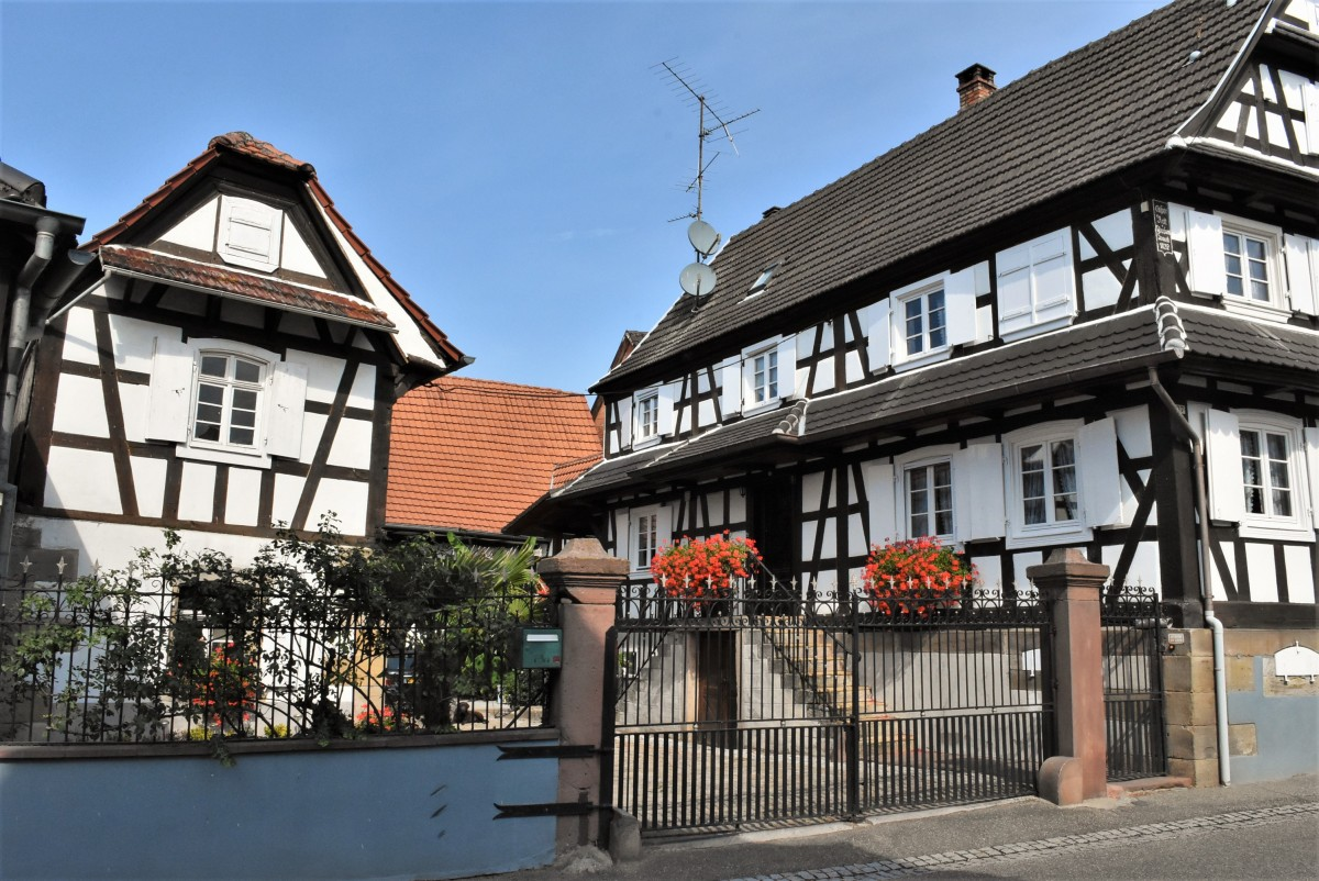 Zdjęcia: Hunspach, Alzacja, Hunspach, domy, FRANCJA