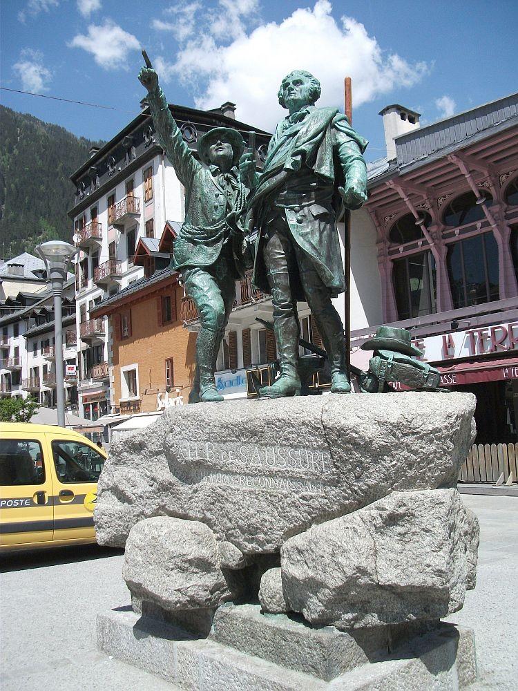 Zdjęcia: Chamonix, Sabaudia, Chamonix. Francja. Pomnik., FRANCJA