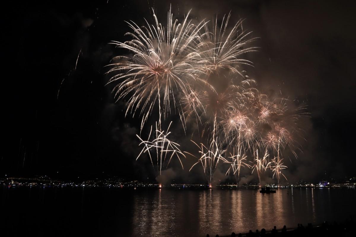 Zdjęcia: Cannes, Côte d'Azur, sztuczne ognie, FRANCJA