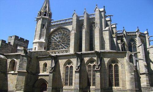 Zdjecie FRANCJA / Gaskonia / Carcassonne / bazylika ST. Nazaire et St. Celse