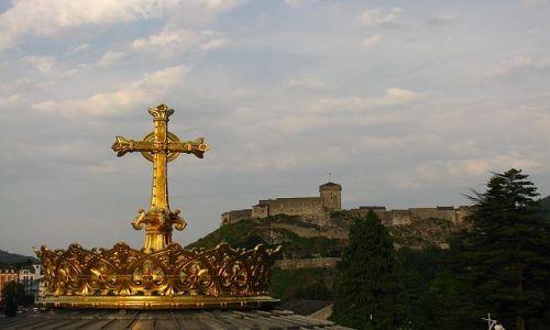 Zdjęcie FRANCJA / Środkowe Pireneje / Lourdes / kopuła bazyliki Matki Boskiej Różańcowej