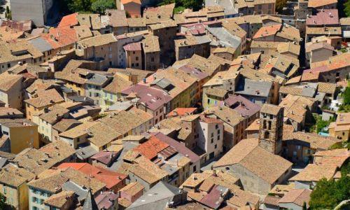 Zdjęcie FRANCJA / Provance / Castellane / Dachy Castellane