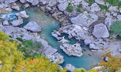 FRANCJA / Provance / Castellane / Water-trekking w kanionie du Verdun