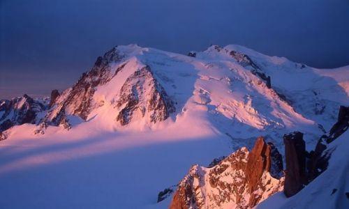 Zdjecie FRANCJA / - / Chamonix / Czekając na wschód słońca