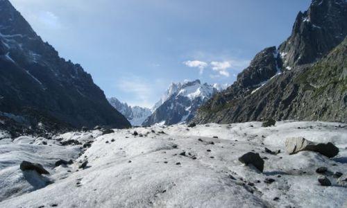 Zdjecie FRANCJA / Alpy / lodowiec / Lodowiec