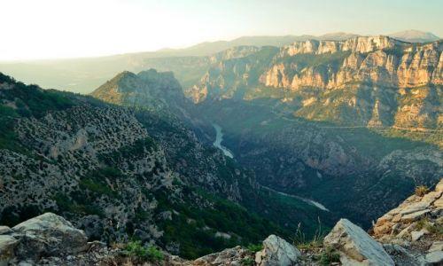 Zdjecie FRANCJA / Provance / Canyon du Verdun / Zachód słońca nad kanionem